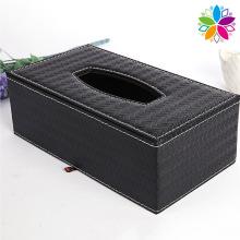 Rectangle Weave Design Kunstleder Tissue Box (ZJH062)