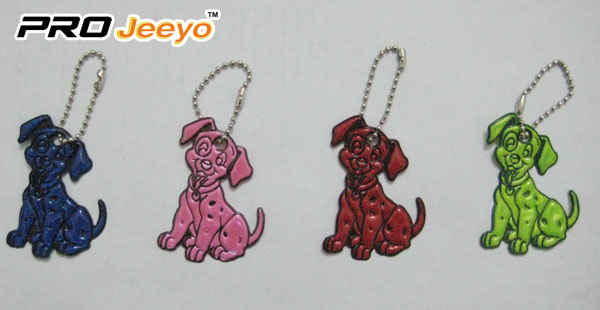 Reflective PVC Dog Key Chain RV-214 5