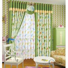 Cortina cortina impressa infantil cortina verde