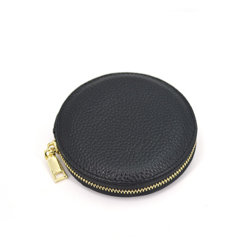 Preço de fábrica Handmade Pu Leather Zipper Coin Purse
