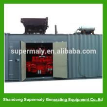 Générateur de gaz naturel approuvé par ISO de 20 conteneurs avec 500 KVA avec CHP et GGD en parallèle