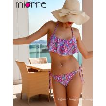 Miorre Women Ruffle Swimwear Bikini Set