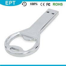 Movimentação personalizada do flash de USB do abridor de garrafa da forma da chave do logotipo para a amostra grátis