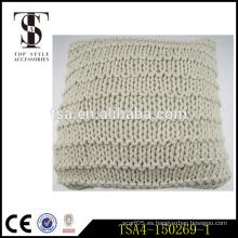 100% algodón rojo y beige peces net patten cubre para la funda de almohada decorativa