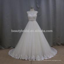 2016 Nova coleção Itália design sexy ruffle em camadas bonito aliexpress vestidos de noiva