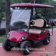 Carrinho de golfe elétrico de 2 lugares com suporte para saco de golfe