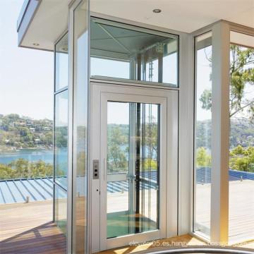 Ascensor panorámico de cristal al aire libre residencial barato del acero inoxidable