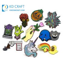 Custom design your own metal zinc alloy soft hard enamel glitter resin fancy lapel pin no minimum