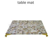 Mutter der Perle Shell Tischdekoration wasserdicht Platz Mate Coaster