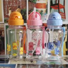 400ml botella de agua plástica lindo del bebé de la historieta