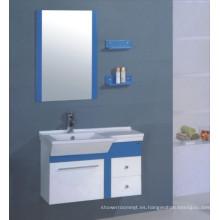 Vanidad del gabinete de cuarto de baño del PVC de los 90cm (B-501)