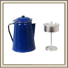 Esmalte azul pote del café, pote del té del esmalte, esmalte tetera con cafetera