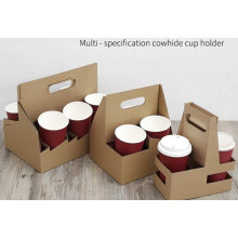Disposable Coffee Tray for Take-out/Multi-Specification Kraft Paper Holder