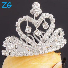 wholesale Rhinestone hair comb heart Wedding Tiara comb hair clips for girls