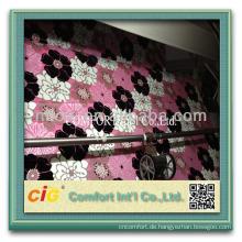Neueste Blume / Streifen / Plain Muster Sofa Bonding Beflockung Stoff
