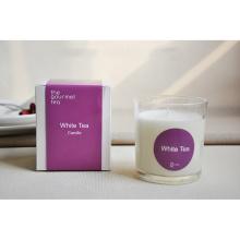 Tarro de velas de aromas de vidrio de gama alta