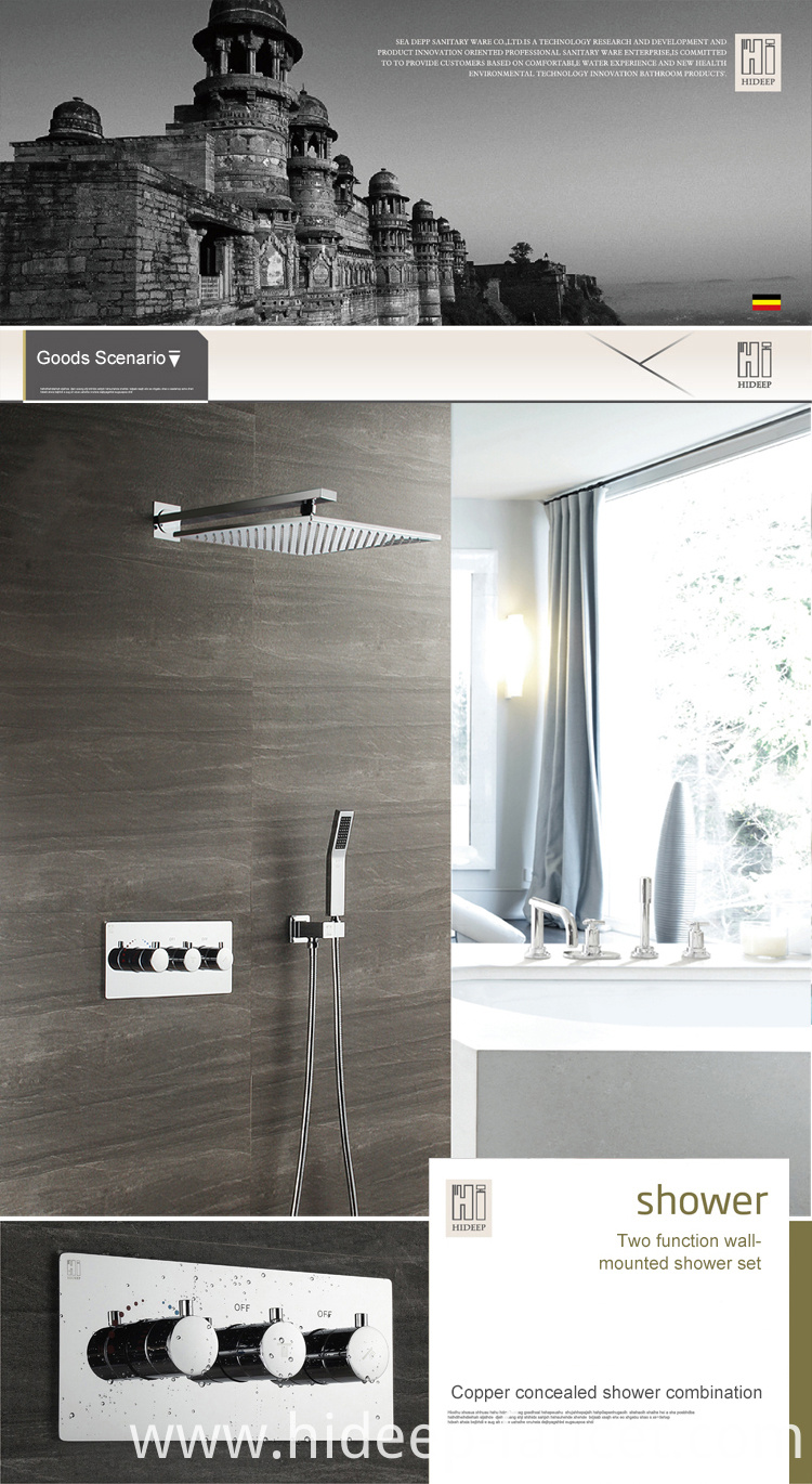 Rain Shower Thermostatic Mixer