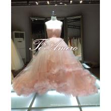 1A363 чистая девушка Св-линии розовые платья выпускного вечера бальное платье вечернее платье