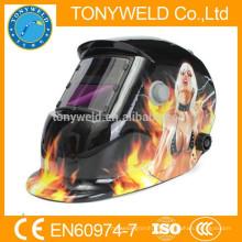 Casco de soldadura auto-oscuro popular con filtro de aire