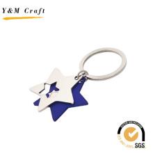Porte-clés en métal à deux étoiles