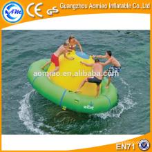 Inflável rebocável esportes aquáticos, insufláveis disco barco água brinquedo, UFO louco