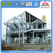 Temporary fashionable EPS sandwich panelwall cheap prefab steel structure house