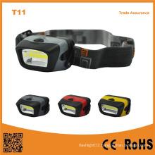T11 Portable Outdoor Emergency Camping COB LED 3xaaa Powerful Headlamp