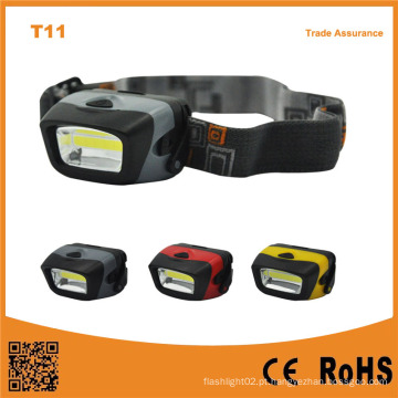 T11 AAA operado 3W LED Camping luz COB LED farol