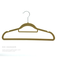 Customized Hanger floqué, vente chaude velours cintre, cintre de pantalon