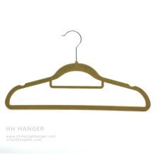 Customized Flocked Hanger, Hot Sale Velvet Hanger, Pants Hanger