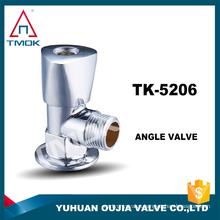 brass angle valve with chromed polishing three way flow water NPT thread CE wall mounted sanitary bathroom clean washing machine