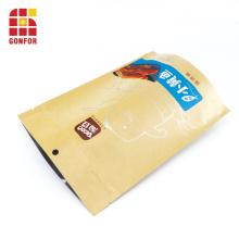 El papel de Kraft se levanta el bolso para el empaquetado del pescado frito de la comida