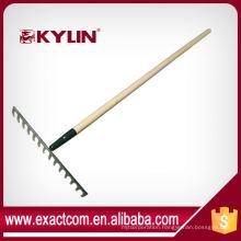 Good Quality Carbon Steel 14 Teeth Garden Lawn Leaf Rake