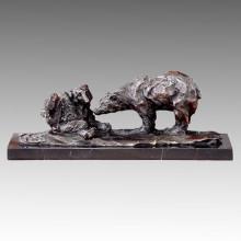 Animal Statue Double Bears Bronze Sculpture, Milo Tpal-173 (B)