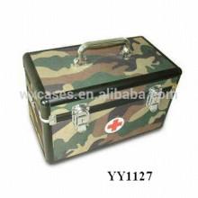 caixa de primeiros socorros de alumínio militar