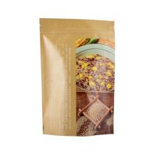 Food Packaging Lamate Film Coffee Tea Snack Fruit Printed Zipper Ziplock Rice Laminated Zip Lock Bag Paper Packaging Bag