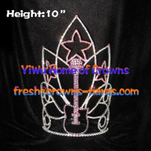 Music Guitar Rhinestone Pageant Crowns