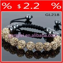 popular color shamballa bracelet