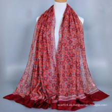 Posicionamiento de diseño de círculo de impresión saudi hijab