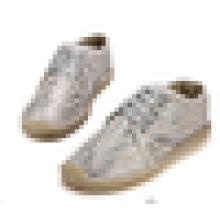 Moda sapatos casuais brilhantes rendas até sapatos espadrille homens