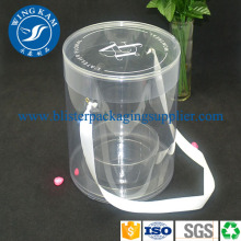 Curl Edges Cylindre Transparent Big Plastic Cylinder