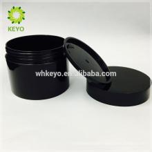 100g 150g 200g heißer verkauf kosmetische glas schwarz leere make-up cremeglas zwei schichten kunststoff kunststoffbehälter