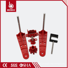 Válvula de esfera de segurança universal de dois braços universal de dois braços BD-F32, tagout de bloqueio do cabo Brady