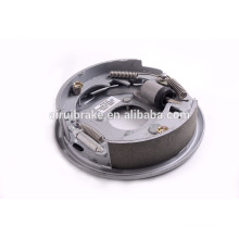 Complete 10''x2-1/4'' hydraulic free backing brake assembly for trailer ( back plate ssurface treatment:Dacromet)