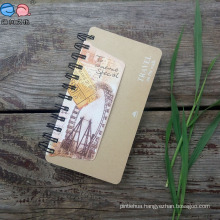 Stationery Factory Supply Brown Kraft Hardcover Spiral Writing Notebooks