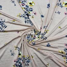 Розовая основа из вискозы с цветочным принтом, одинарное джерси