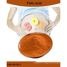 La poudre d'acide folique de haute qualité, bénéficie de l'acide folique pour les femmes