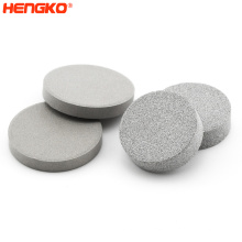Factory custom 0.2 5 7 40 50 70 90 120 microns porosity sintered metal powder SS 316L stainless steel filter disc