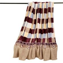 Stock 100% Polyester Coral Fleece Blanket