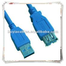 Качественный синий кабель 6Ft высокого качества 3,0 A удлинительный кабель M / F